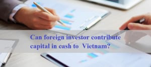 Can Foreign Investor Contribute Capital In Cash To Vietnam